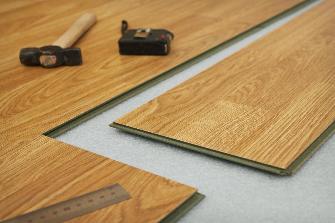 This is a picture of a floor laminate.